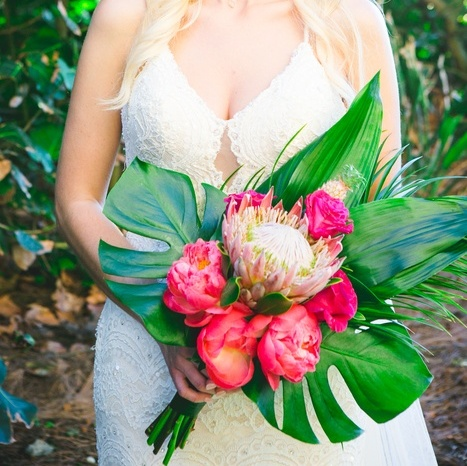 Tropical Inspired Beach Wedding