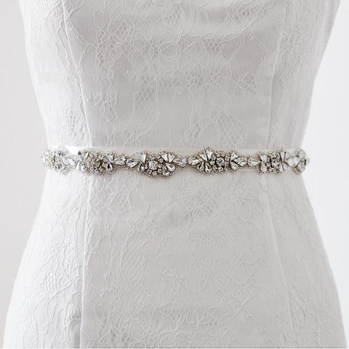 Wedding Bridal Sash Belt Crystal Dress Sash Rhinestone Prom Wedding Belt Party Bridesmaid Belt Dress rhinestone belt Waistband