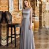 Cute Pretty A Line Beaded Waistline Backless Long Evening Dress