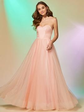 A Line Sweetheart Floor Length Long Prom Dress