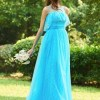 A-Line Tulle Long Bridesmaid Dress