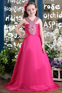Amazing Halter A-line Floor-length Beaded Flower Girl Dress