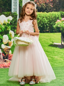 Appliques Ball Gown Tulle Flower Girl Dress