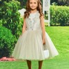 Ball Gown Tea Length Flower Girl Party Dress