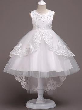 Ball Gown Tulle White Flower Girl Dress