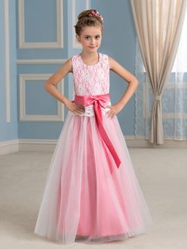 Beautiful A Line Lace Flower Girl Dress