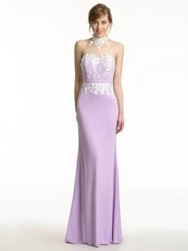 Charming Halter Mermaid Bridesmaid Dress