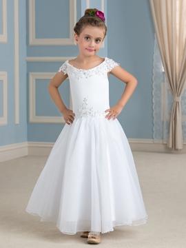 Charming Off The Shoulder A Line Flower Girl Dress