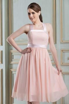 Classy A-Line Square Neckline Knee-Length Nadya's Bridesmaid Dress