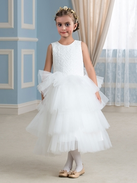 Comfortable Jewel A Line Flower Girl Dress