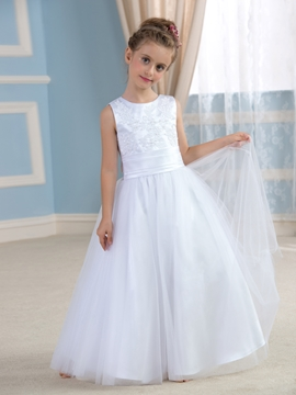 Cute Bowknot Flower Girl Dress