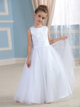 Cute Bowknot Flower Girl Dress