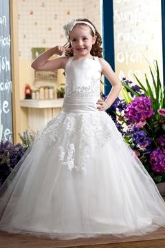 Elegant Ball Gown Straps Flower Girl Dress