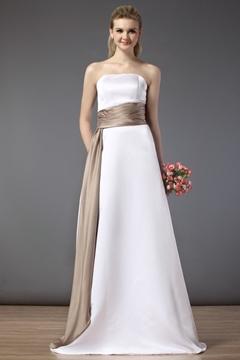 Elegant Sashes-Ribbons Strapless A-line Floor-length Bridesmaid Dress
