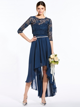 Elegant Sweetheart Beaded Asymmetry Bridesmaid Dress With Jacket