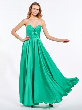 Ericdresss A-Line Sweetheart Draped Floor-Length Prom Dress