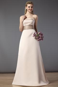Gorgeous A-Line-Princess Strapless Bridesmaid Dress