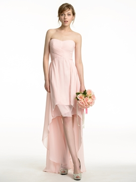 High Quality Asymmetry Bridesmaid Dress