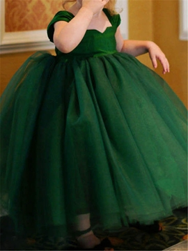 High Quality Tulle Ball Gown Empire Flower Girl Dress