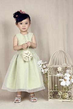 Lovely A-line Jewel Ankle-length Flower Girl Dress
