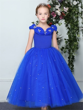 Lovely Princess Ball Gown Sleeveless Flower Girl Dress