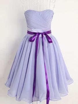 Pretty Sweetheart Short Chiffon Bridesmaid Dress