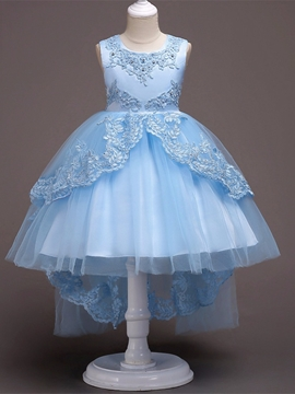 Scoop Tulle Ball Gown Flower Girl Party Dress