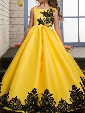 Square Neck Sleeveless A-Line Flower Girl Dress