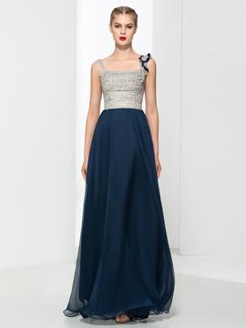 Straps Beading Sequins Prom Dress