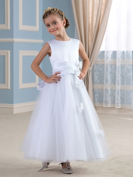 Sweet A Line Flower Girl Dress