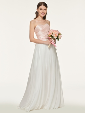 Sweetheart Long A Line Bridesmaid Dress