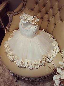 Tea Length Ball Gown Scoop Flower Girl Party Dress