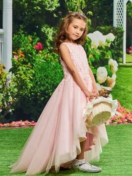 Tulle Asymmetry Flower Girl Dresses