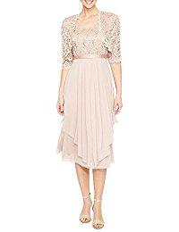 2 Piece Lace Collarless Jacket Dress