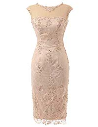 Cap Sleeve Lace Sheath Event Dress Mother of Bride Dresses
