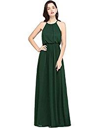 Halter Casual Maxi Dress Chiffon Formal Evening Dress