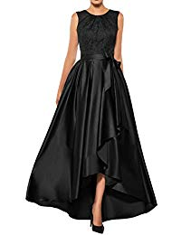 Mother The Bride Dresses Lace High Low Formal Evening Party Gown A Line Prom