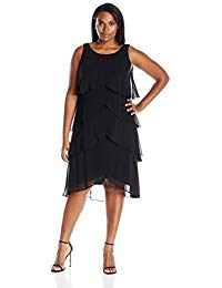 Plus-Size Multi-Tier Dress