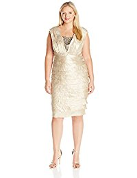 Plus-Size Shimmer Shutter with Jeweled Inset