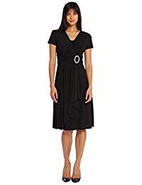 Short Black Stretchy Mother of The Bride Formal Dress
