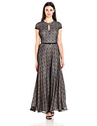 All Over Lace A-Line Gown Dress