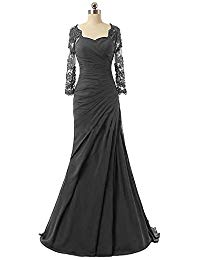 Beading Lace Mermaid Mother of The Bride Dresses Long Evening Gowns Formal Prom Dresses P057