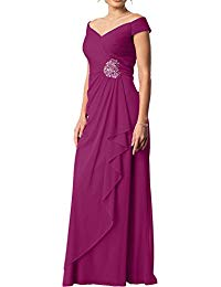 Cheap Mother The Bride Dresses Off-The-Shoulder A-Line Pleated