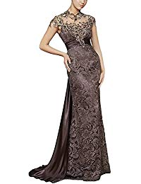 H.S.D Lace Mother Of The Bride Dress Cap Sleeve Formal Long Evening Gown