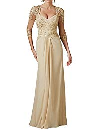 H.S.D Sexy V Neck Mother Of The Bride Dress Formal Long Evening Gown