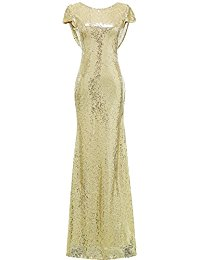 Mermaid Sequined Long Evening Dress Formal Prom Gown Bridesmaid Dresses