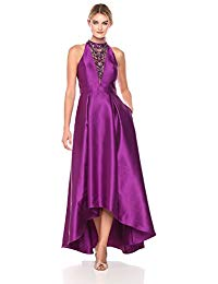 Mikado High Low Gown