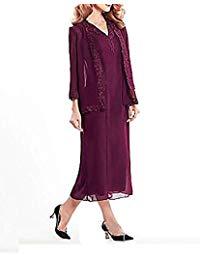 Mother of The Bride Dress Wedding Guest Dresses Chiffon 3-4 Sleeve Dress E60