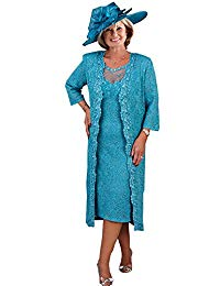 Mother of The Bride Dresses with Long Jacket Royal Plus for Wedding