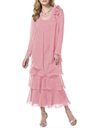 Plus Size Tiered Chiffon Mother Dress The Bride Jacket
